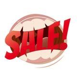 Bocca di vendita royalty illustrazione gratis
