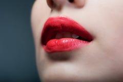 Bocca sensuale Fotografie Stock Libere da Diritti