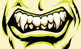 Bocca stilizzata del mostro Fotografie Stock