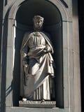 Boccaccio in den Nischen der Uffizi Kolonnade, F Lizenzfreie Stockbilder