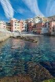 Boccadasse,热那亚,意大利风景看法  图库摄影