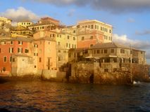 Boccadasse. A typical fishing Village in Italian Riviera Royalty Free Stock Photos