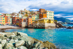 Boccadasse, a district of Genoa in Italy Stock Image