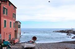 Boccadasse Gênes Photos libres de droits