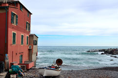 Boccadasse Genoa Arkivfoto