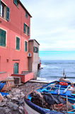 Boccadasse Genoa Stock Photo