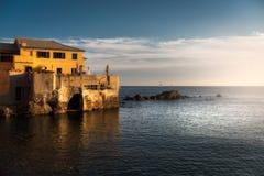 Boccadasse- Genoa - Itália foto de stock