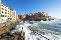 Boccadasse, Genova immagine stock