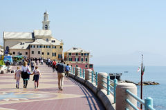 Boccadasse, Genua, Italië Royalty-vrije Stock Foto's