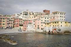 Boccadasse: small town on the sea Royalty Free Stock Photos