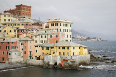 Boccadasse: small town on the sea Stock Photo