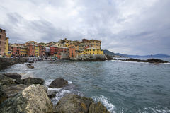 Boccadasse, a small village Royalty Free Stock Photos