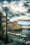 Boccadasse small village by the mediterranean sea in Genoa royalty free stock image