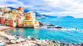 Boccadasse, un distretto di Genova in Italia immagine stock libera da diritti