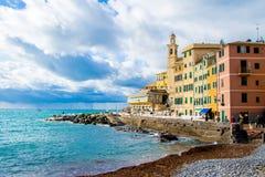 Boccadasse, un distretto di Genova in Italia immagine stock