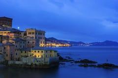 Boccadasse - vecchia vicinanza della città italiana di Genova Fotografie Stock Libere da Diritti