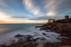 Boccale castle and rocky coast Stock Image