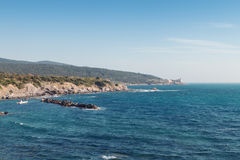 Boccale castle the sea near Livorno in Tuscany region Royalty Free Stock Photography