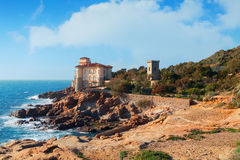 Boccale castle the sea near Livorno in Tuscany region Royalty Free Stock Photos