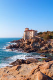 Boccale castle the sea near Livorno in Tuscany region Stock Photos