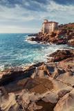 Boccale castle the sea near Livorno in Tuscany region Stock Images