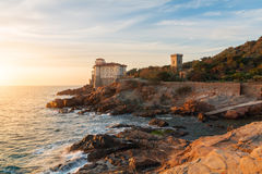 Boccale castle the sea near Livorno in Tuscany region Royalty Free Stock Images