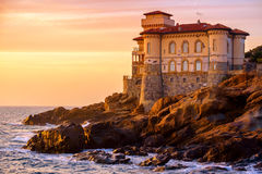 Boccale Castle on Tuscany coast Stock Images
