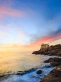 Boccalekasteel op de kust van Toscanië Royalty-vrije Stock Afbeeldingen