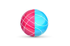 Bocce球 商标或象游戏设计的 也corel凹道例证向量 库存图片