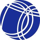 Bocce Ball. Blue Bocce Ball icon vector Royalty Free Stock Photo
