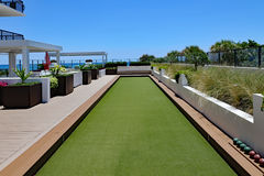 Bocce Ball Court and Terrace Stock Photos