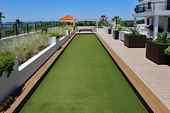 Bocce Ball Court and Terrace Stock Photography
