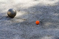 Bocce ball and jack Royalty Free Stock Photo