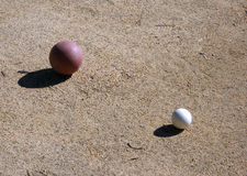 Bocce Ball and Pallino Royalty Free Stock Images