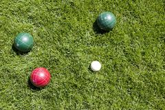 Bocce balls stock photos