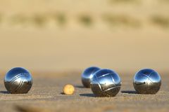 Bocce balls Stock Photo
