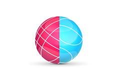 Bocce boll Logo eller symbol för den modiga designen också vektor för coreldrawillustration Fotografering för Bildbyråer