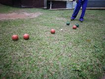Bocce Bowling stock photography