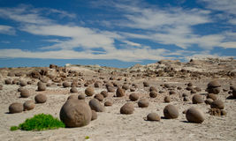 Bocce court. Naturally formed stones in San Juan, Argentine Stock Photos