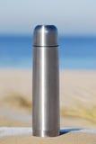 Boccetta d'acciaio del thermos Fotografia Stock