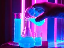 Boccetta del prodotto chimico di misura Fotografia Stock Libera da Diritti