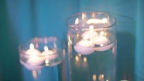 Boccette con le candele archivi video