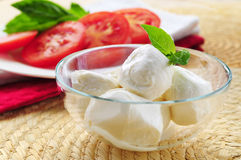 Bocconcini cheese Stock Photo