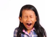 Bocejo da menina Fotos de Stock