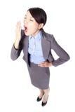 Bocejo da mulher de negócio fotografia de stock royalty free