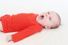 Bocejos do bebê Imagens de Stock