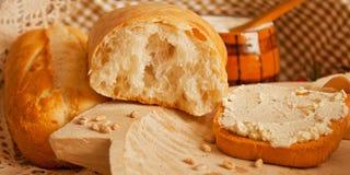 Bochenek biały chleb Zdjęcie Royalty Free