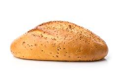 Bochenek biały chleb z sezamowymi ziarnami Obrazy Royalty Free