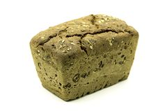 Bochenek chleb na Białym tle Zdjęcie Stock