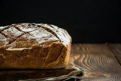 Bochenek chleba wciąż życie, kopii przestrzeń Zdjęcia Stock